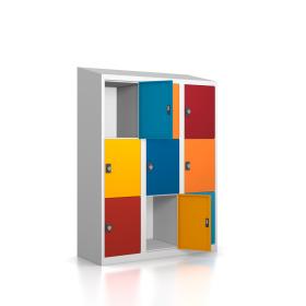 Gebrauchter Schließfachschrank mit 9 Fächern /...