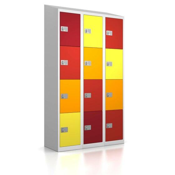 High End Schließfachschrank - 12 Fächer - Frischekick - elektronisches Schloss