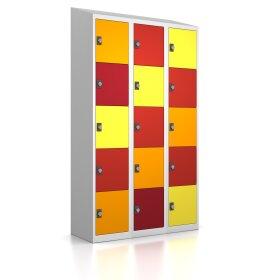 Premium Schließfachschrank - 15 Fächer - Frischekick - Drehriegel