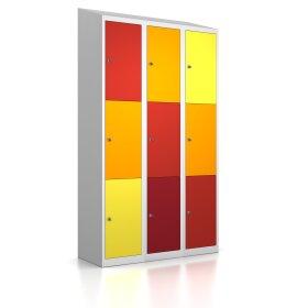 Premium Schließfachschrank - 9 Fächer - Frischekick - Schlüssel