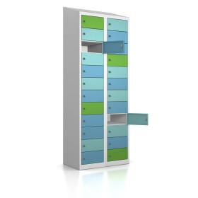 Premium Wertfachschrank - 24 Fächer - Morgentau - Schlüssel