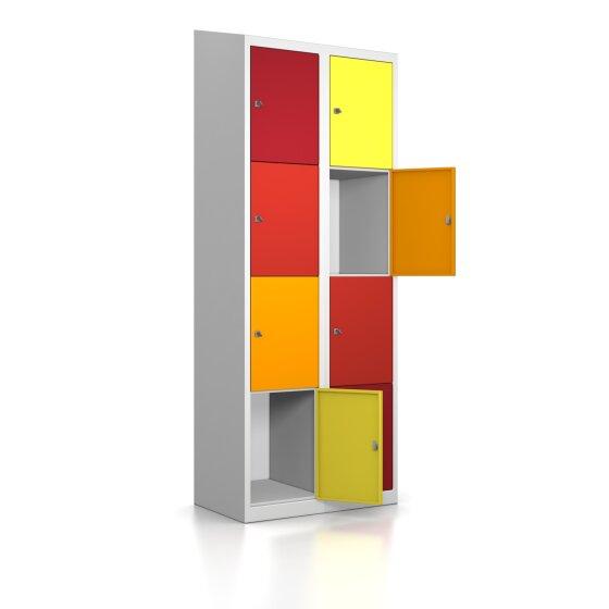 Schließfachschrank - 8 Fächer Design 001 Frischekick Schlüsselschloss