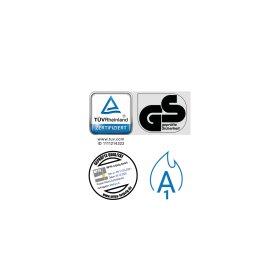Premium Schließfachschrank - 8 Fächer - Morgentau - Schlüssel