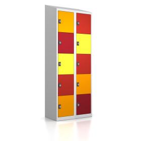 Schließfachschrank - 10 Fächer Design 001 Frischekick Drehriegel