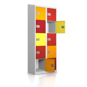 High End Schließfachschrank - 10 Fächer - Frischekick - elektronisches Schloss