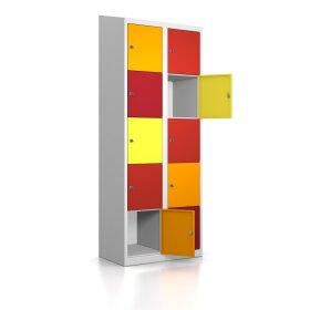 Schließfachschrank - 10 Fächer Design 001 Frischekick Schlüsselschloss