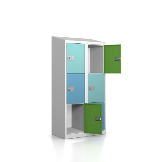 Schließfachschrank - Serie MINI - Größe L - 6 Fächer