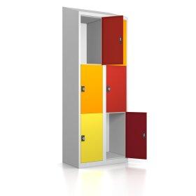 Schließfachschrank - Größe L+ - 6 Fächer Design 001 Frischekick Drehriegel