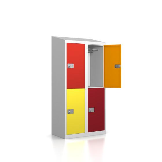 Garderobenschrank - 4 Fächer - Serie MINI Design 001 Frischekick easyPIN V3