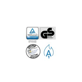 Garderobenschrank - 4 Fächer - Serie MINI Design 001 Frischekick Schlüsselschloss