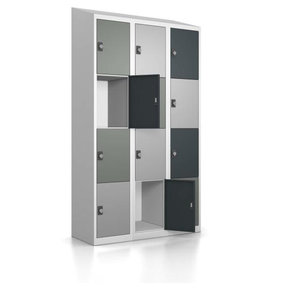 Schließfachschrank - Größe L - 12 Fächer Design 417 Mondschein Drehriegel