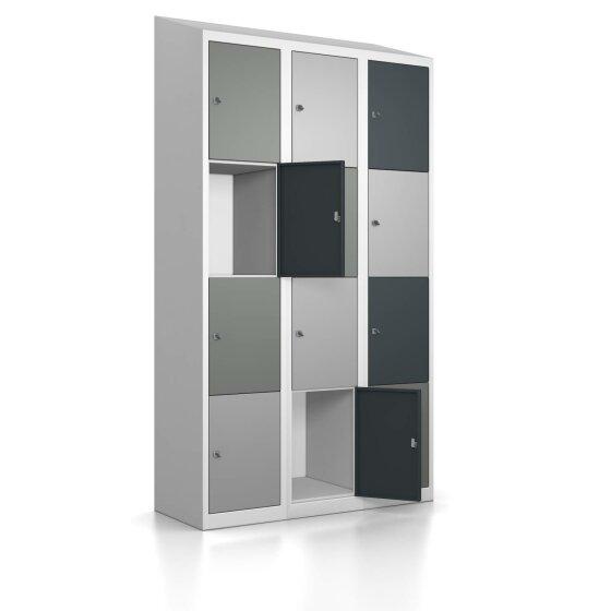 Schließfachschrank - Größe L - 12 Fächer Design 417 Mondschein Schlüsselschloss