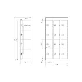 Ladeschrank - Größe L - 12 230V Ladefächer