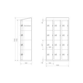 Ladeschrank - Größe L - 12 230V Ladefächer - Morgentau - easyPIN V3